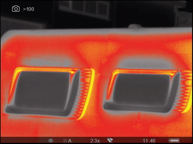 Abzug der Wärmebildkamera zur Nutzung für ein Gutachten